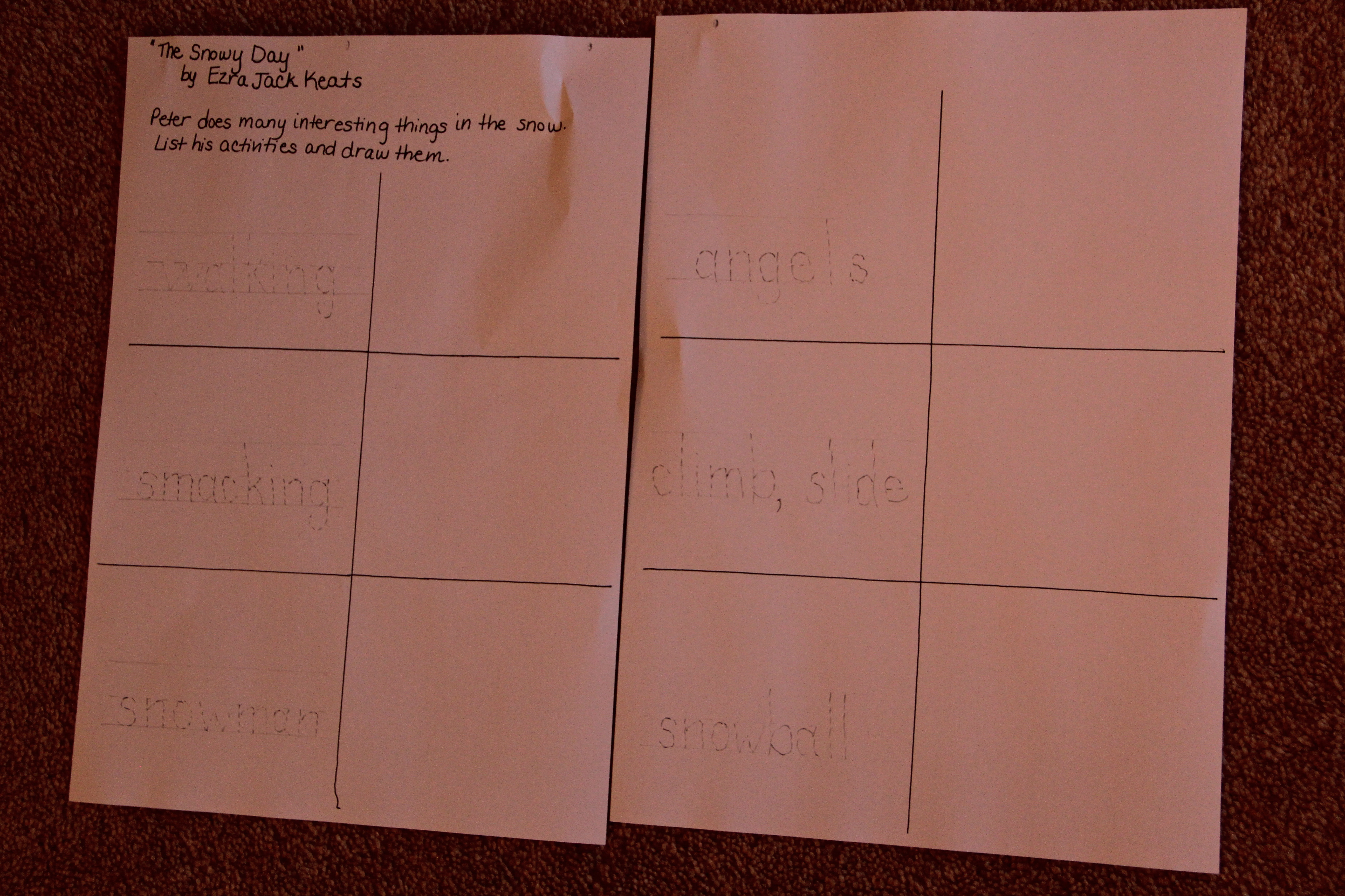 Displaying 18> Images For - The Snowy Day Sequencing Cards...